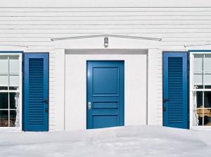 drzwi niebieskie